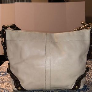 Coach Leather Ivory/Brown